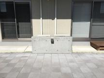 個人向け室外機目隠し壁設置.JPG